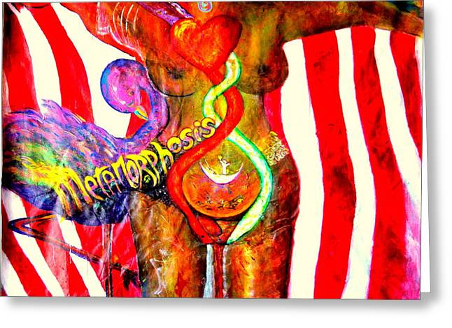 American Dream Metamorphosis Greeting Card by Shaktima Brien