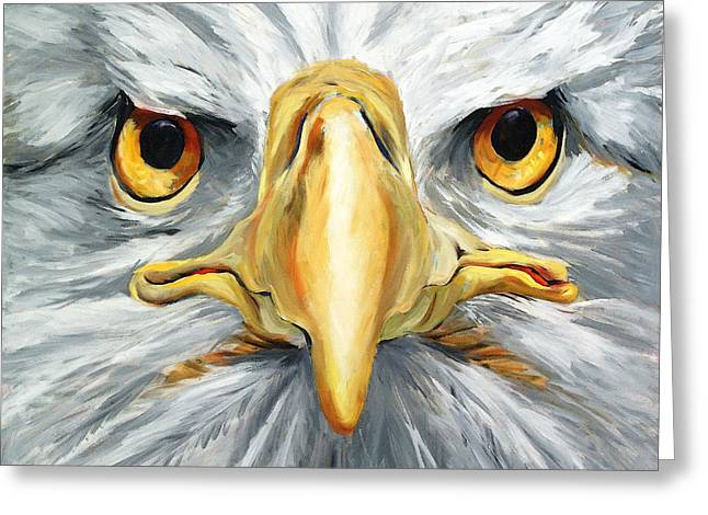 Philadelphia History Greeting Cards - American Eagle - Bald Eagle By Betty Cummings Greeting Card by Betty Cummings