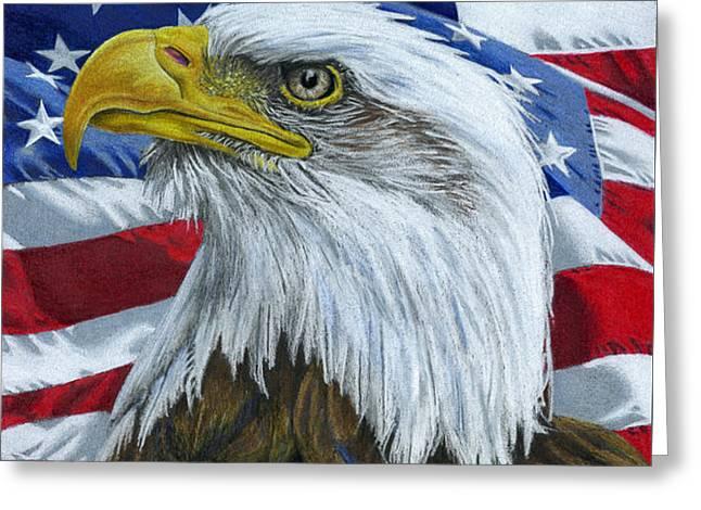 American Eagle Greeting Card by Sarah Batalka