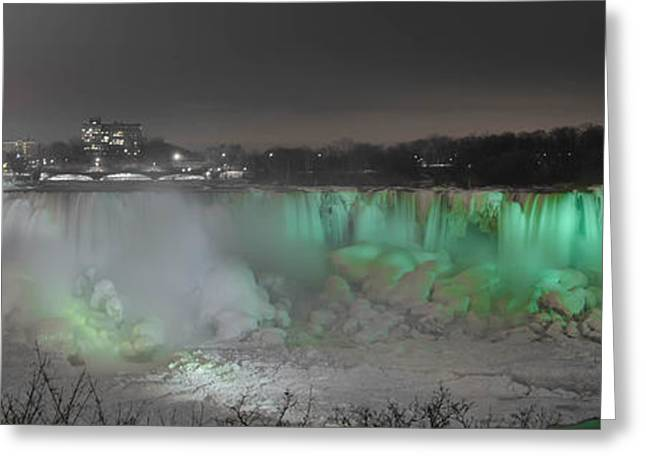 Long Exposure Waterflow Greeting Cards - American Falls 7D08974 Greeting Card by Guy Whiteley