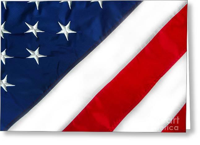 4th July Digital Art Greeting Cards - American flag Greeting Card by Cheryl Casey