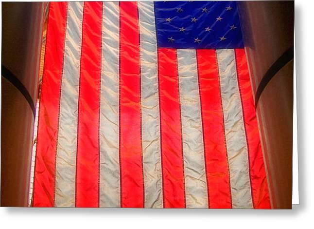 American Flag Greeting Card by Joann Vitali