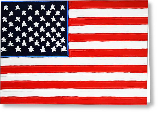 American Flag Greeting Card by Matthew Brzostoski
