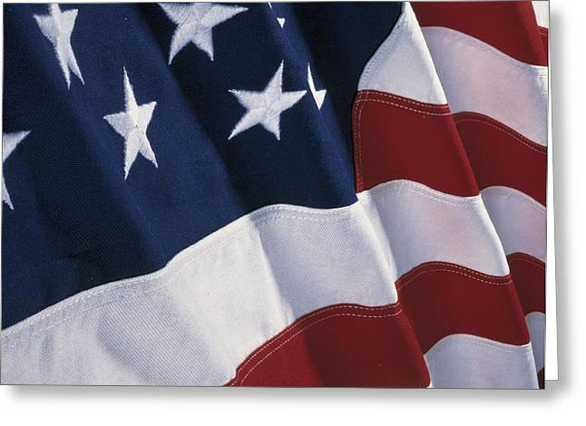 Liberation Greeting Cards - American Flag Greeting Card by Panoramic Images