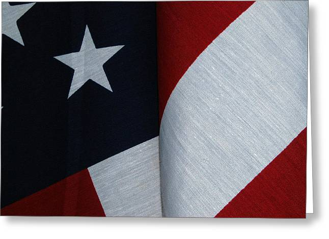 American_flag Greeting Cards - American Flag Greeting Card by Tam Ryan