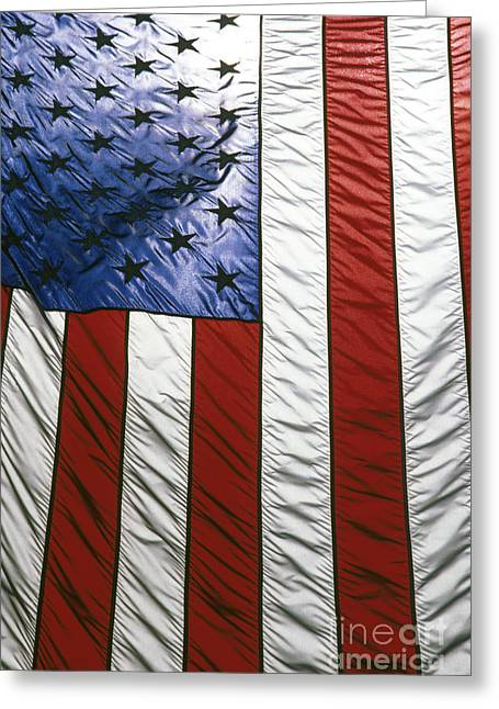 4th July Photographs Greeting Cards - American flag Greeting Card by Tony Cordoza