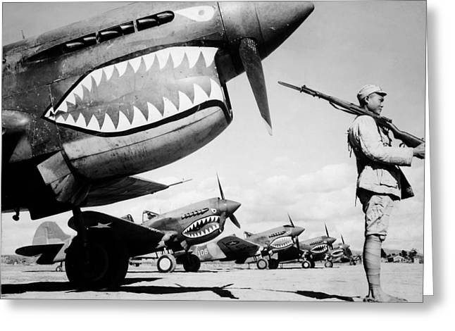 Flying Tigers Greeting Cards - American Flying Tigers in China Greeting Card by Mountain Dreams
