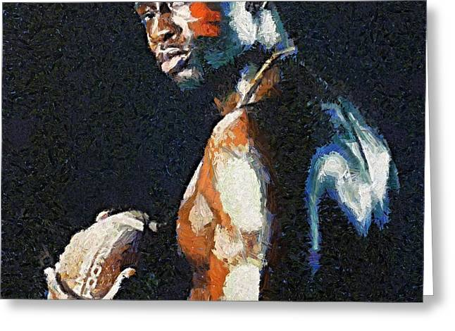 American Football Player Greeting Card by Dragica  Micki Fortuna