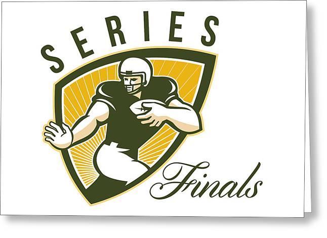 American Football Series Finals Shield Greeting Card by Aloysius Patrimonio