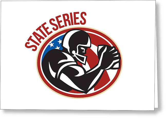 American Football State Series Ball Greeting Card by Aloysius Patrimonio