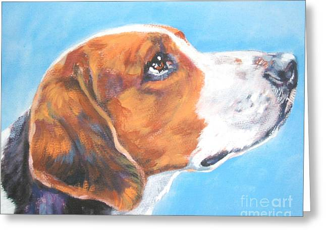 Foxhound Greeting Cards - American Foxhound Greeting Card by L A Shepard