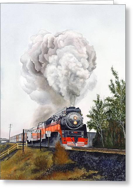 Wa Paintings Greeting Cards - American  Freedom  Train #4449 Greeting Card by Jeannine Marx Fruci