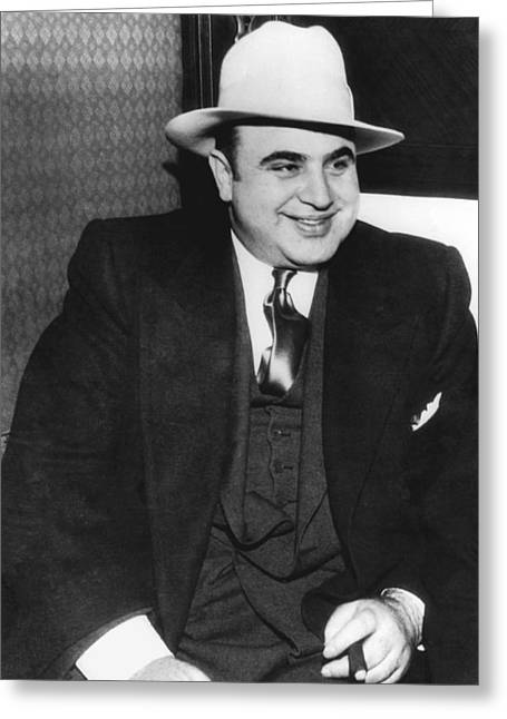 American Gangster Al Capone Greeting Card by Underwood Archives