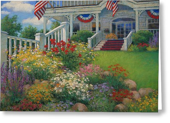4th July Pastels Greeting Cards - American Garden Greeting Card by Sharon Will