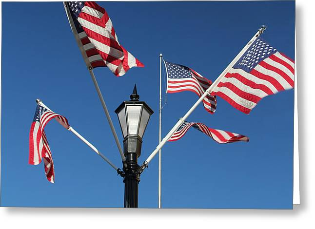 American Glory Greeting Card by James Hammen