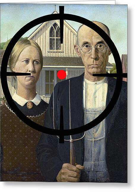 Way Of The Cross Digital Greeting Cards - American Gothic Endangered Greeting Card by Daniel Hagerman