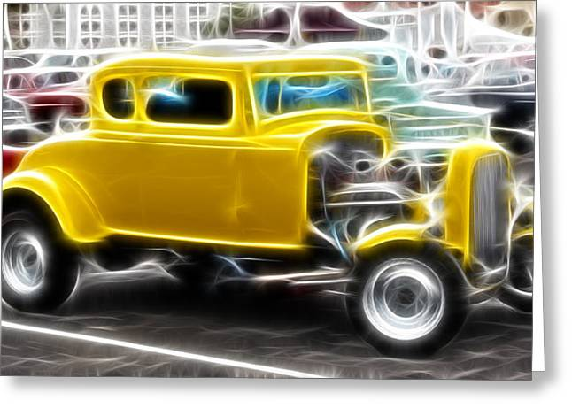 1949 Plymouth Greeting Cards - American Grafitti Coupe Greeting Card by Steve McKinzie