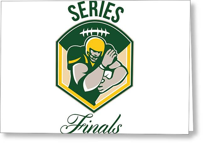 Tailback Greeting Cards - American Gridiron Running Back Series Finals Crest Greeting Card by Aloysius Patrimonio