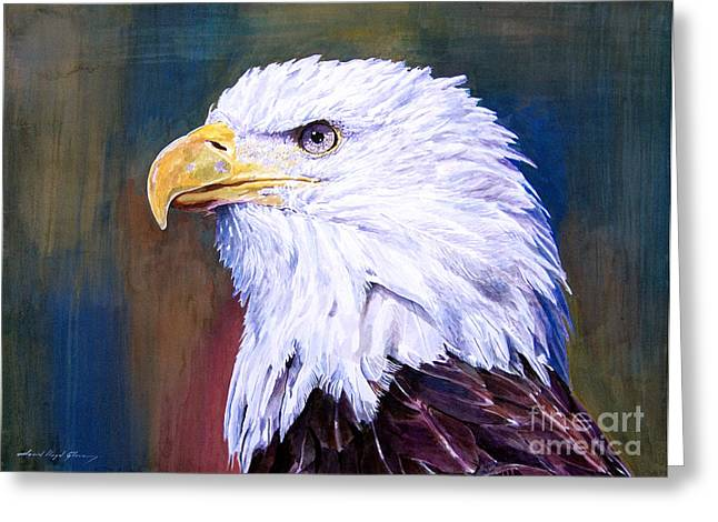 Endangered Species Greeting Cards - American Guardian Greeting Card by David Lloyd Glover