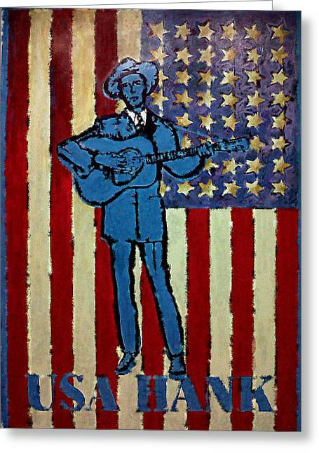 Drifter Photographs Greeting Cards - American Hero - Hank Williams Greeting Card by Richard Reeve