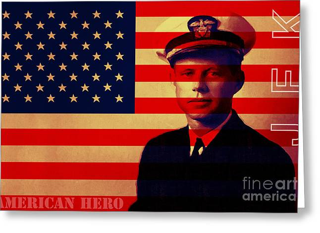 President Of America Greeting Cards - American Hero John Fitzgerald Kennedy JFK 20130610 Greeting Card by Wingsdomain Art and Photography