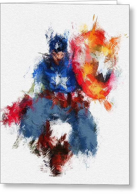 American Hero Greeting Card by Miranda Sether