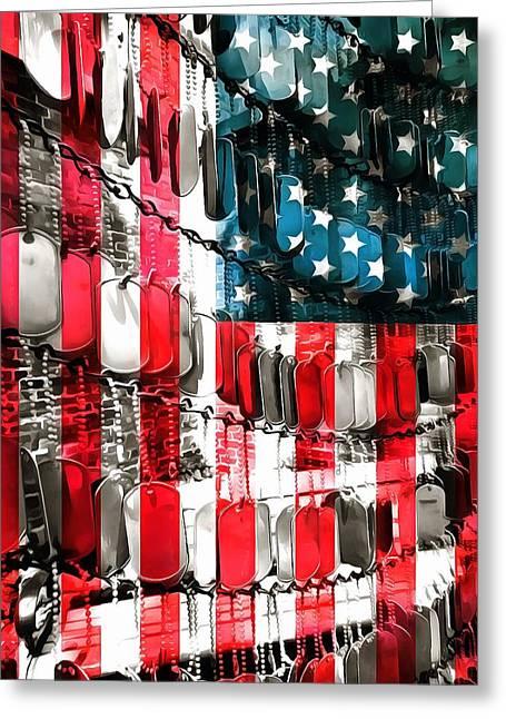 American Heroes Greeting Card by Dan Sproul