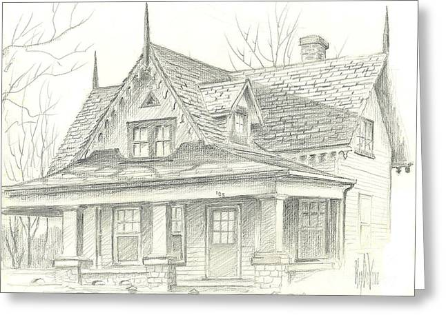 Historical Pictures Greeting Cards - American Home Greeting Card by Kip DeVore