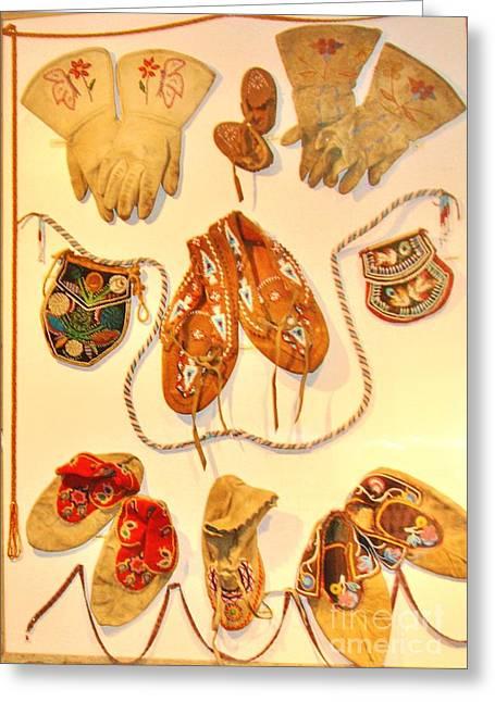 Beaded Gloves Greeting Cards - American Indian Artwork Greeting Card by Marilyn Diaz
