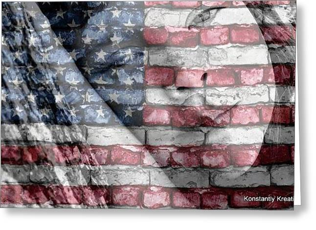 American Independance Photographs Greeting Cards - American Innocence Greeting Card by Misty Herrick
