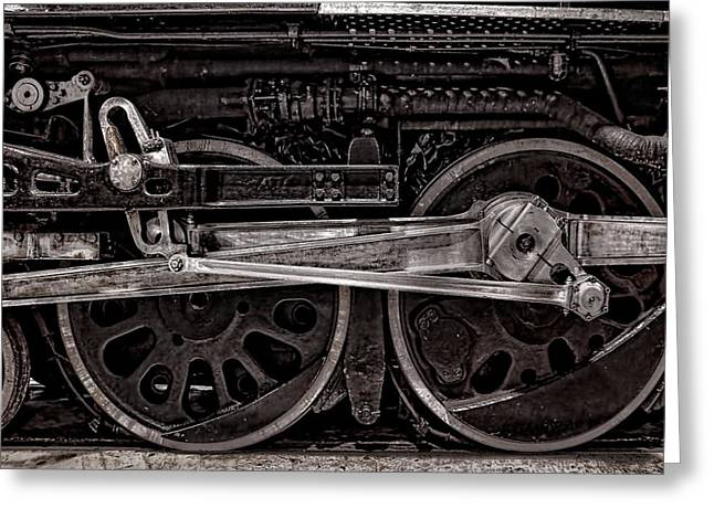 Locomotive Wheels Greeting Cards - American Iron Greeting Card by Ken Smith