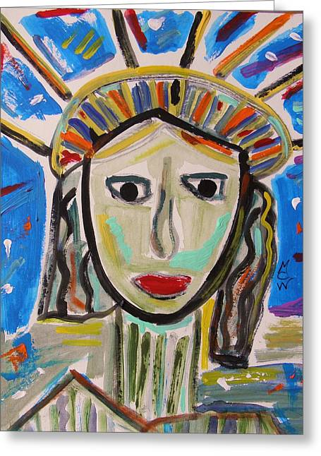 Mcw Greeting Cards - American Lady Greeting Card by Mary Carol Williams
