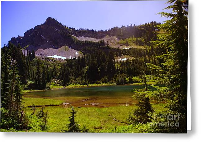 Pacific Crest Trail Greeting Cards - American Lake And American Ridge  Greeting Card by Jeff  Swan