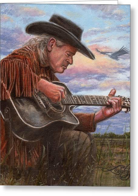 Original Cowboy Greeting Cards - American Legacy Greeting Card by James Loveless