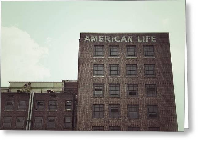 Ghost Signs Greeting Cards - American Life Greeting Card by Brandon Addis