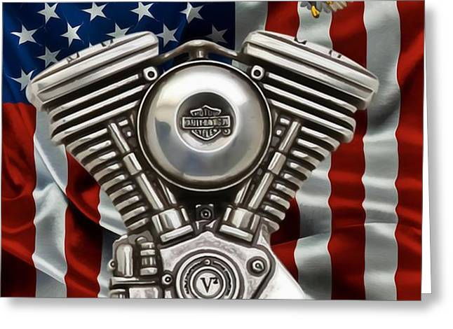 American Made 2 Greeting Card by Todd and candice Dailey