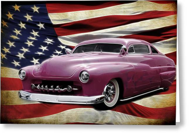 1950 Merc Greeting Cards - American Merc Greeting Card by Steve McKinzie