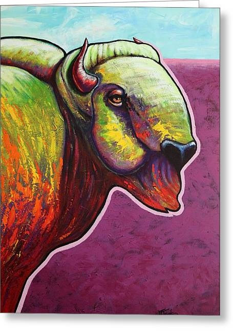 Buffalo Greeting Cards - American Monarch Greeting Card by Joe  Triano