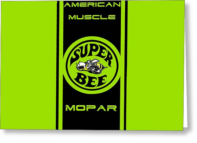 Mopar Collector Greeting Cards - American Muscle - Mopar II Greeting Card by Sennie Pierson