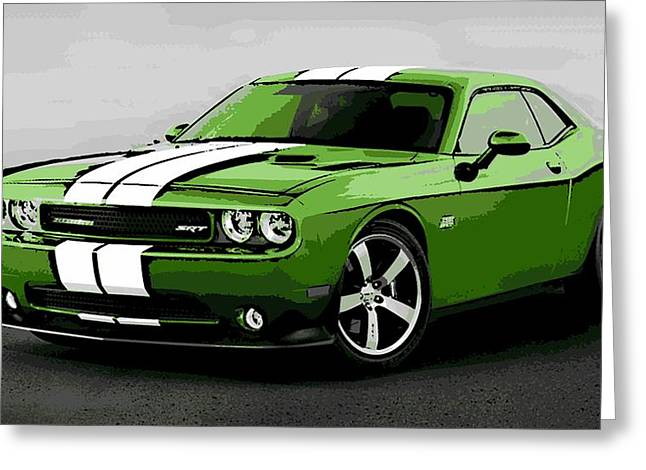 American Muscle Greeting Card by George Pedro
