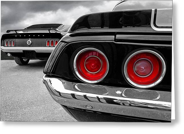 American Muscle Greeting Card by Gill Billington