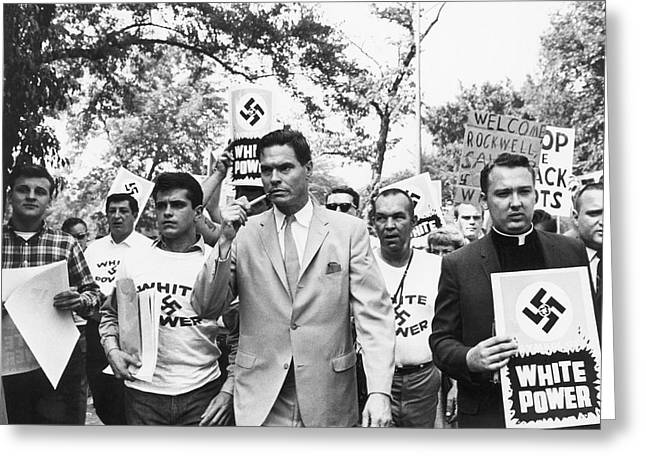 American Nazi Party March Greeting Card by Underwood Archives