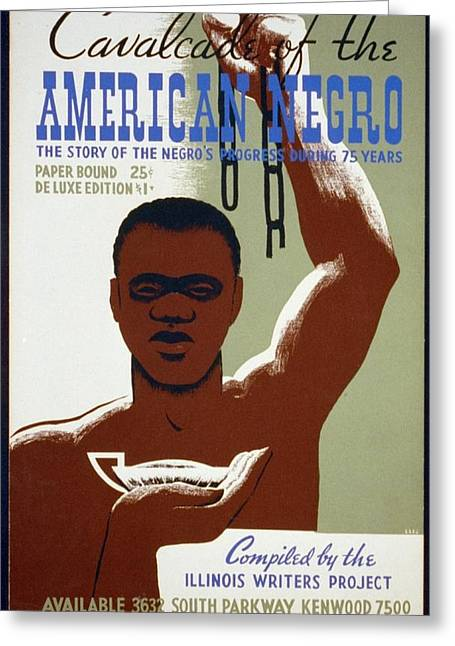 Negro Greeting Cards - American Negro Greeting Card by Unknown