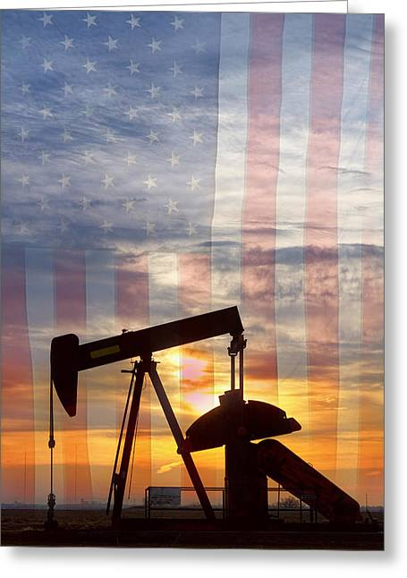Industrial Background Greeting Cards - American Oil 2 Greeting Card by James BO  Insogna