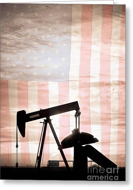 Petro Chemical Greeting Cards - American Oil Well Greeting Card by James BO  Insogna