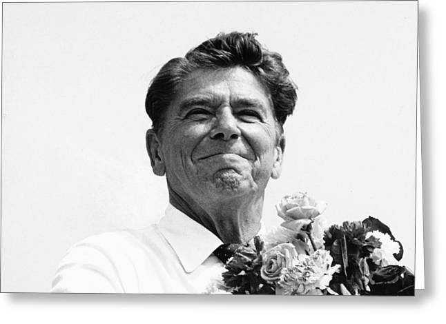 President Reagan Greeting Cards - American Optimism Greeting Card by Steven Huszar