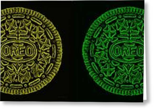 Oreo Greeting Cards - American Oreo Colors Greeting Card by Rob Hans