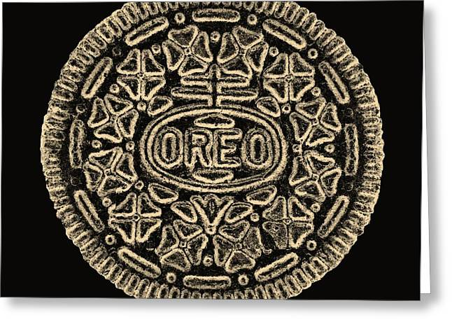 Oreo Greeting Cards - American Oreo Sepia Greeting Card by Rob Hans