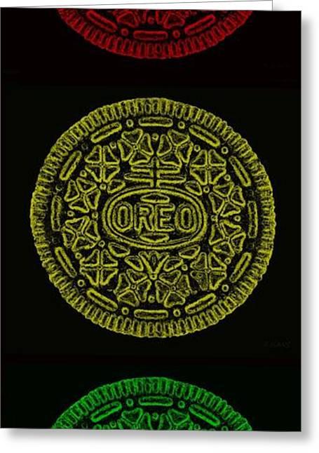 Redlight Greeting Cards - American Oreo Traffic Light Greeting Card by Rob Hans