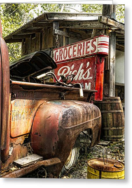 Junk Greeting Cards - American Pickers Greeting Card by Peter Chilelli
